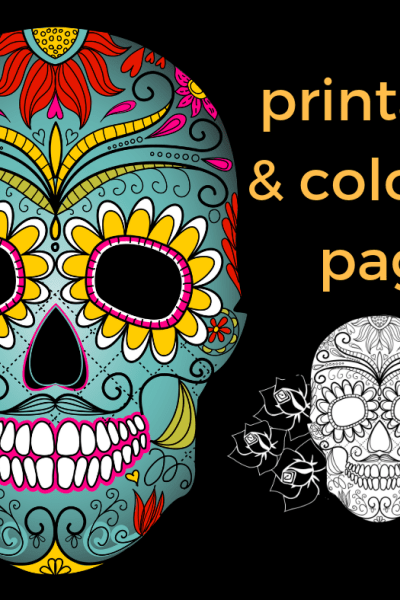 Dia de los Muertos Free Printable and Coloring Page to Educate