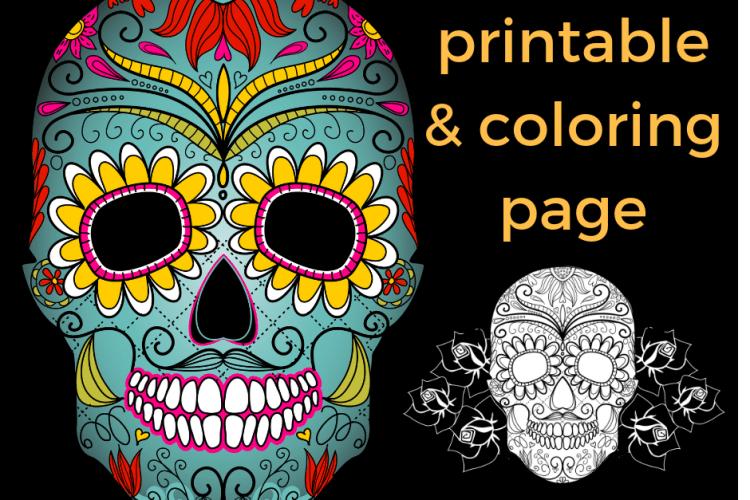 Dia de los Muertos Free Printable and Coloring Page to Educate