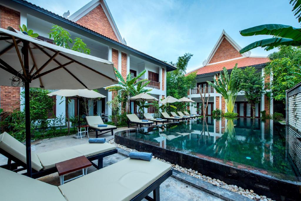 吳哥窟住宿 Charming Angkor Residence (Chez moi) 泳池