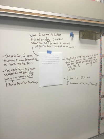Gallery Walk critiquing anonymous drafts