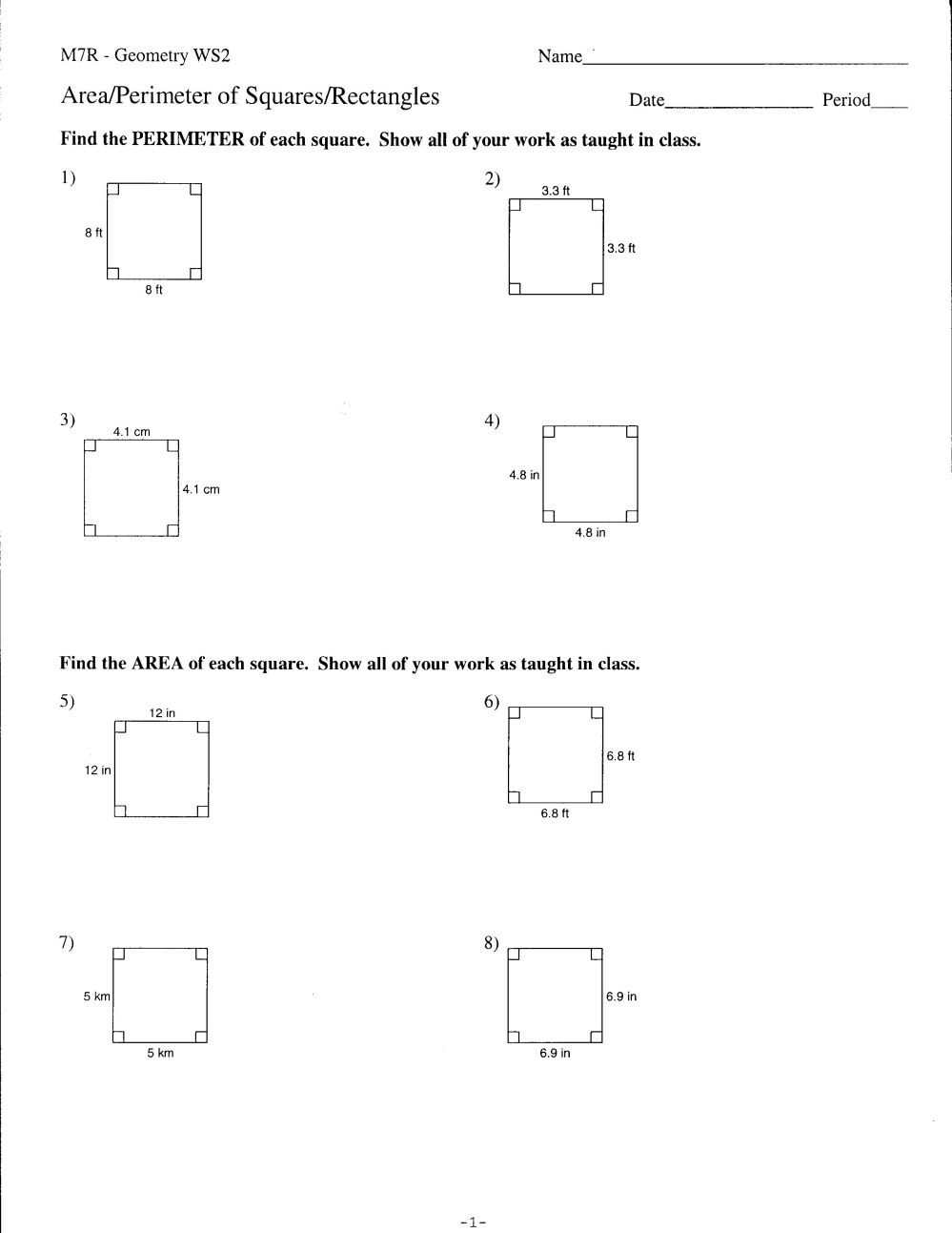 medium resolution of 9th Grade Geometry Worksheets   Printable Worksheets and Activities for  Teachers