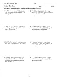 Percent Proportion Worksheets