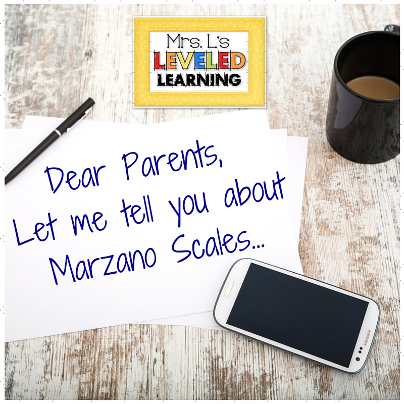 Grading Marzano Scales - Parent Communication