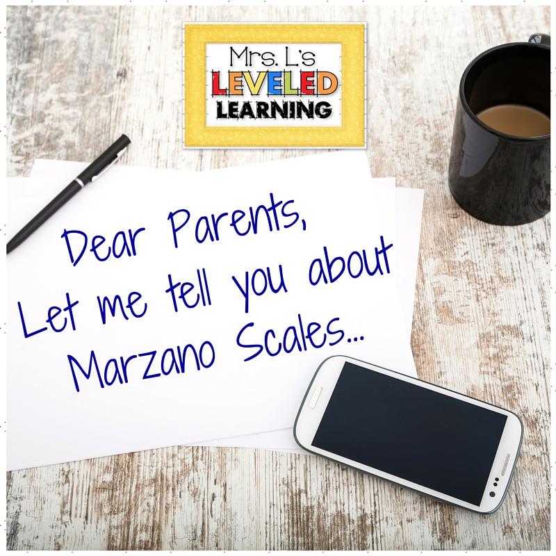Grading Marzano Scales - Parent Communication