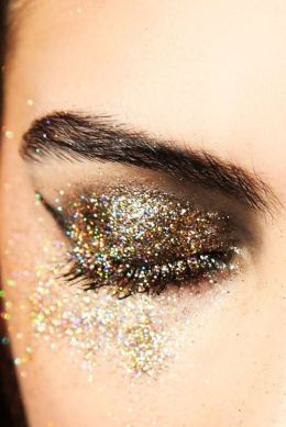 Sparkly makeup!