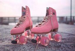 Pinkish Rollerskates!
