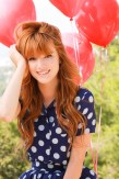 red hair with red balloons