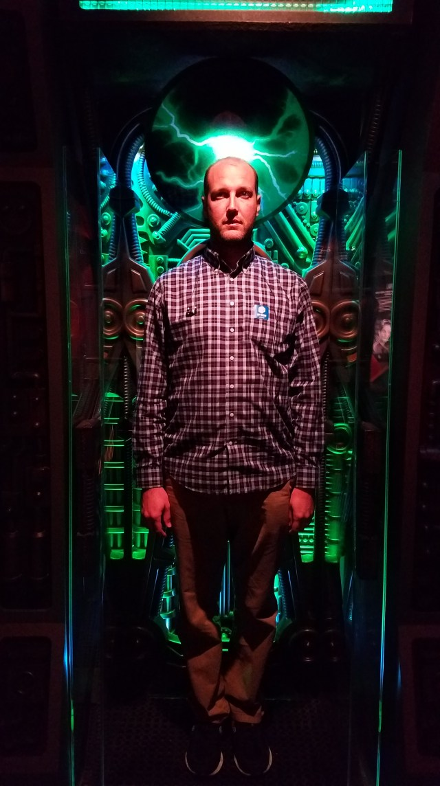 The hubby as Borg at the Star Trek Exhibit at the Experience Music Project in Seattle.