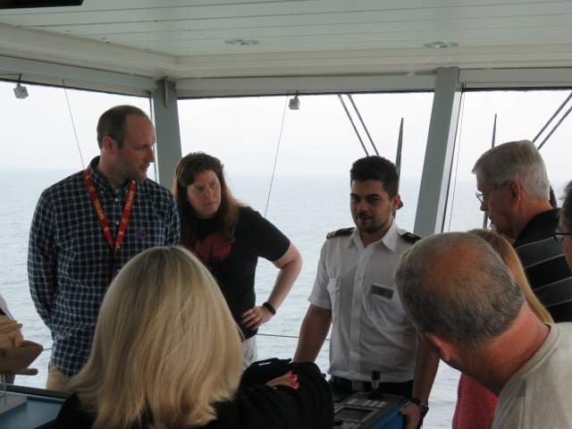 A tour of the bridge aboard the Celebrity Solstice on our way to Victoria, British Columbia.
