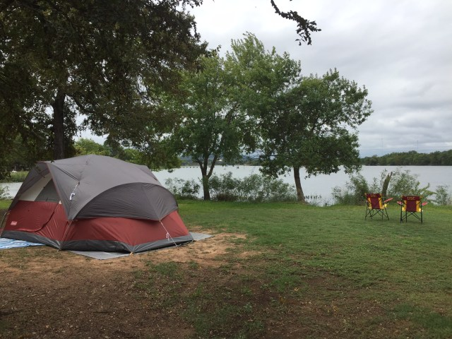 You don't have to have a lake in your backyard to enjoy camping there...but if you do, all the better!