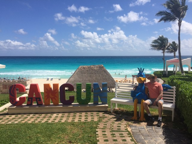 Beach and skies in our all-inclusive resort in Cancun