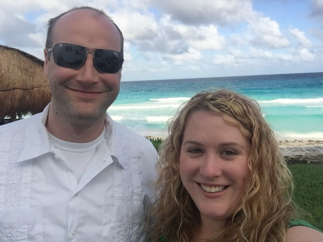 Couple photo at our all inclusive resort in Cancun