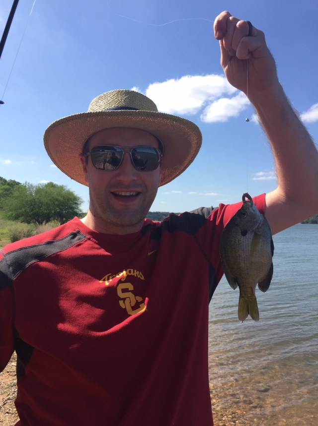 Sunfish fishing at Muleshoe Bend Campground