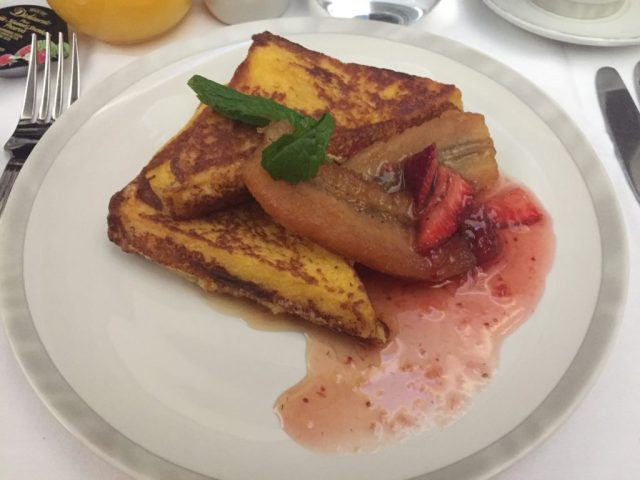 Stuffed French Toast with Strawberry Syrup