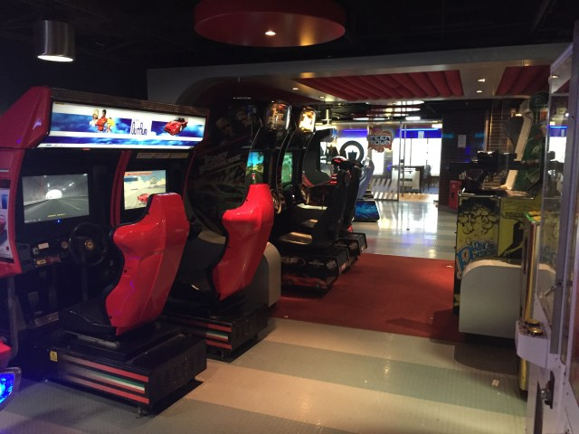 "The arcade area for the Stena Adventurer, next to the ""teen lounge"""