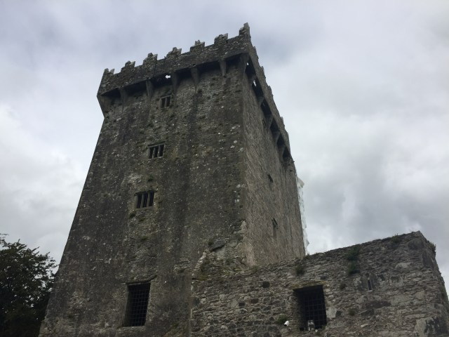 The view of the Blarney Castle, from the ground level.