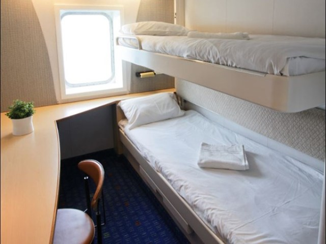 "2-person ""outside"" cabins can be reserved for an extra fee. Photo courtesy of Stena."