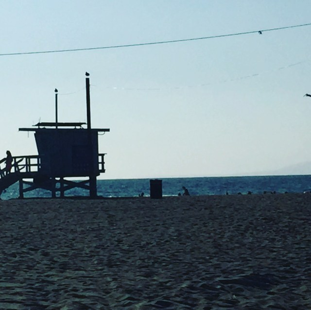 A lifeguard station at Venice Beach, overlooking the Pacific Ocean during our weekend getaway to Los Angeles.