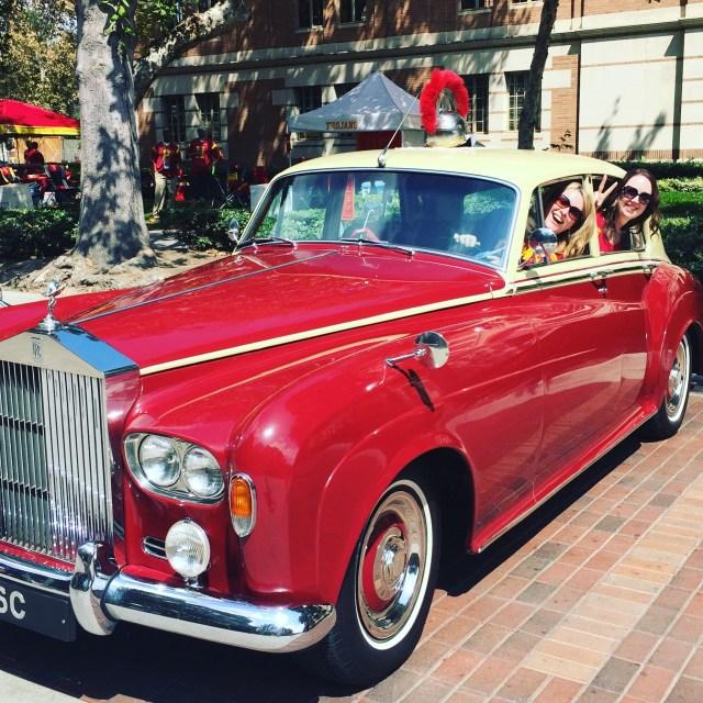 A classic Rolls-Royce, driven by a USC alumni.