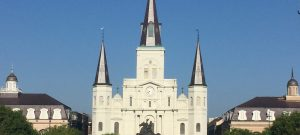 Jackson Square in New Orleans during our Three Day Weekend in New Orleans.