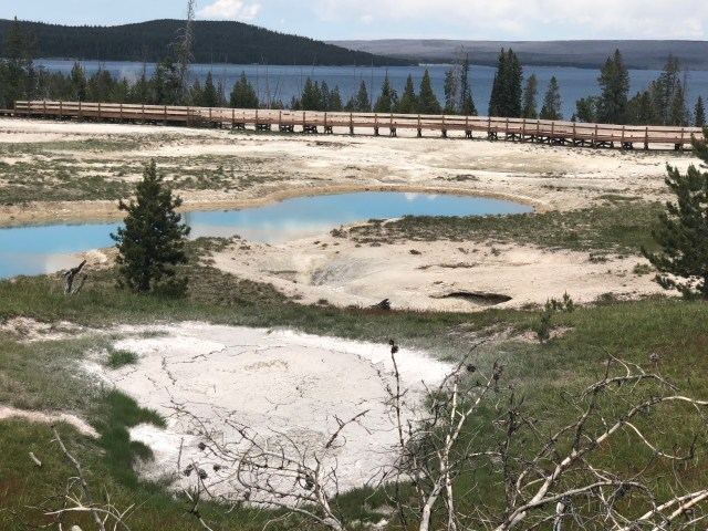 The Surging Spring Hot Pool, in the West Thumb Geyser Basin, in Yellowstone National Park
