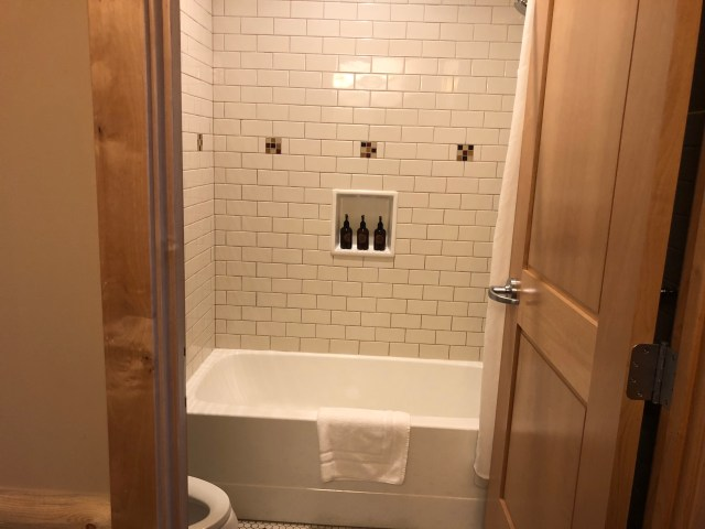 Superior rooms come with one big upgrade however: a private bathroom with a bathtub!