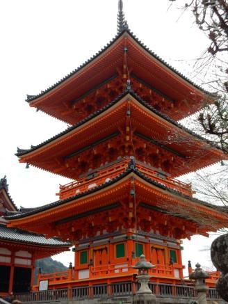 Kiyomizu-dera Temple overlooks Kyoto.