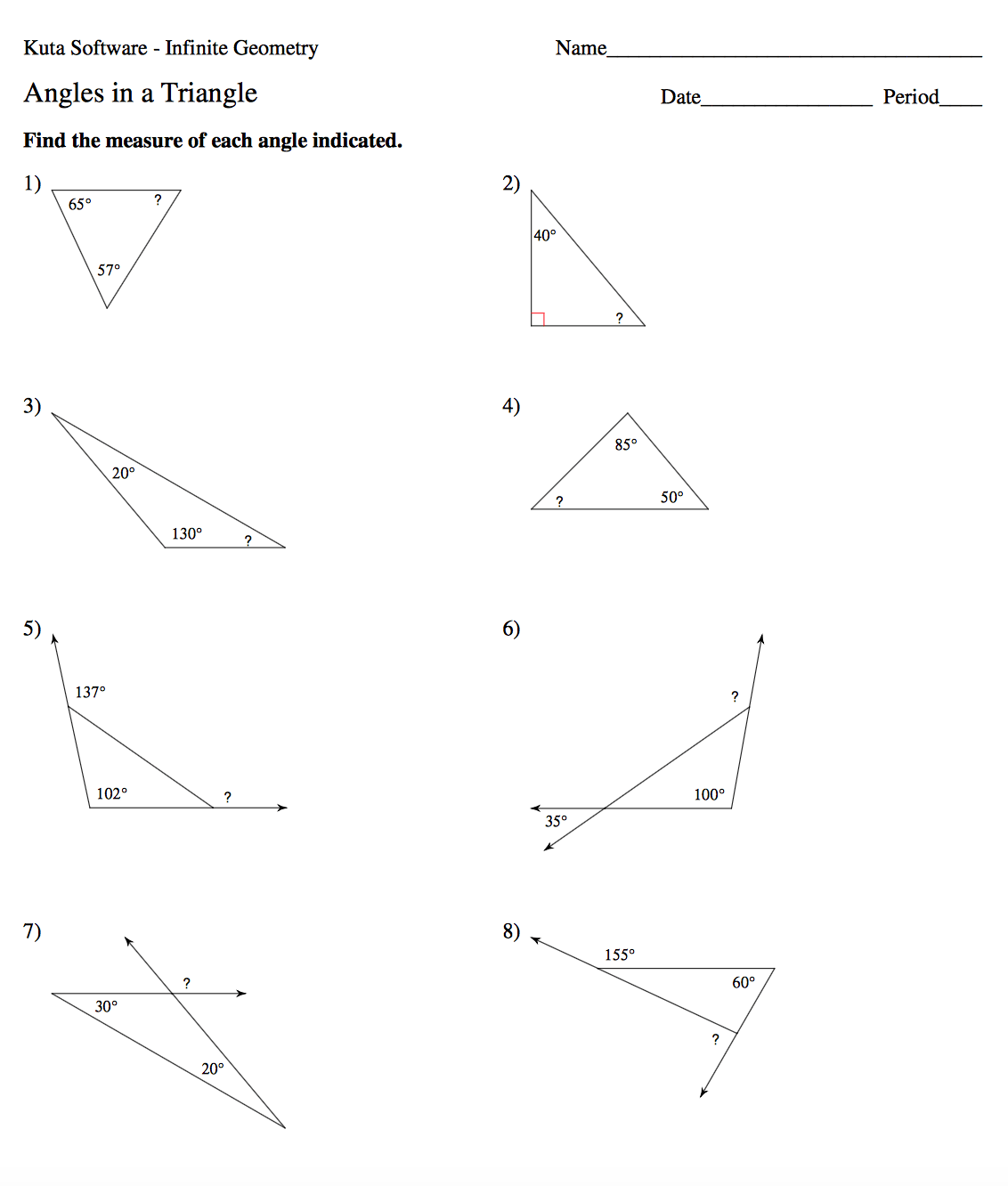 Worksheet Geometry Special Right Triangles Worksheet