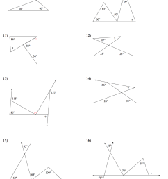 Finding Angles Worksheet   Printable Worksheets and Activities for  Teachers [ 1352 x 1086 Pixel ]