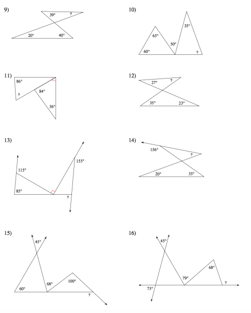 small resolution of Angles In A Triangle Worksheet Answers - Worksheet List