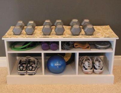 workout gear storage
