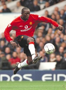 Dwight Yorke in action for Manchester United