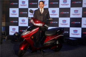 Mr. Jeetender Sharma, MD announces the launch of E-Scooter Ridge