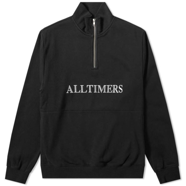 AllTimers Nextel Quarter Zip Sweatshirt in Black