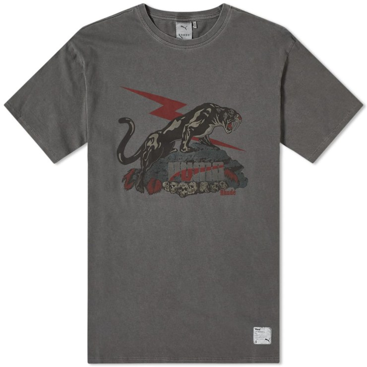 Puma x Rhude T-Shirt in Black and Grey