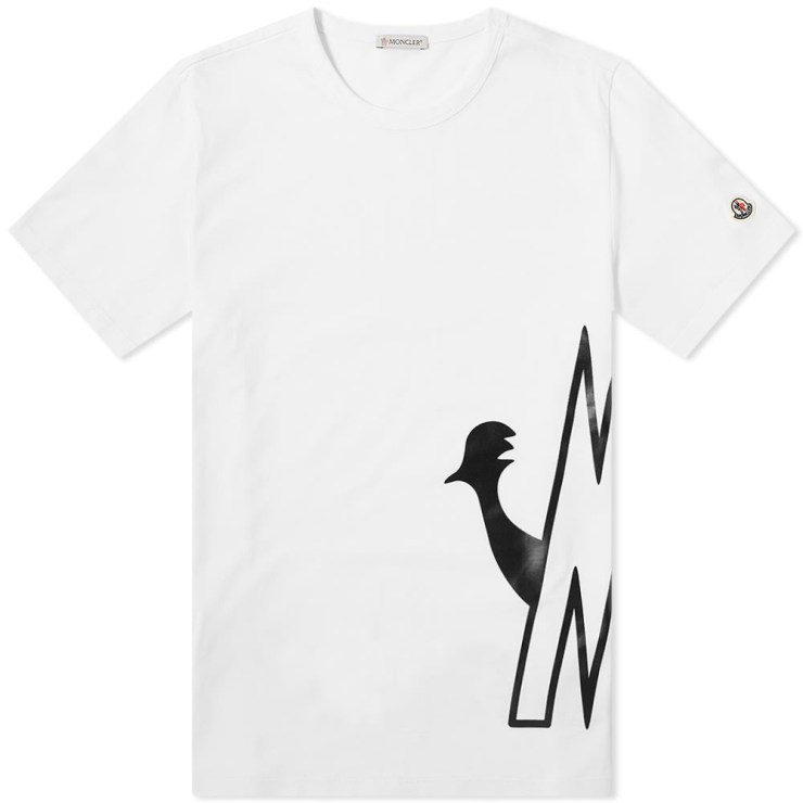 Moncler Side Logo Printed T-Shirt in White