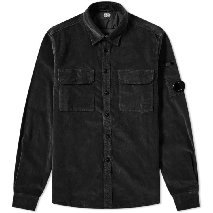 C.P. Company Cord Pocket Ovetshirt in Black