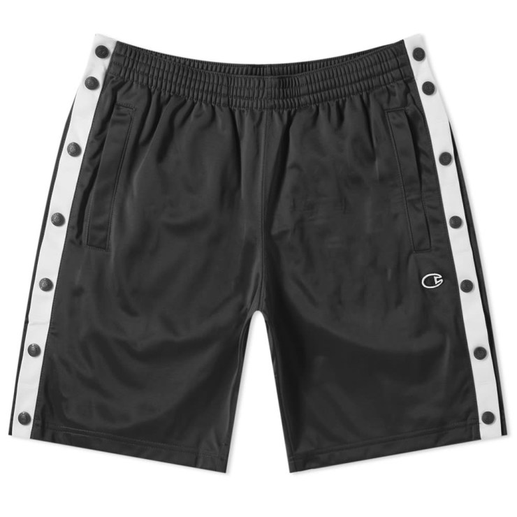 Champion Reverse Weave Popper Shorts in Black