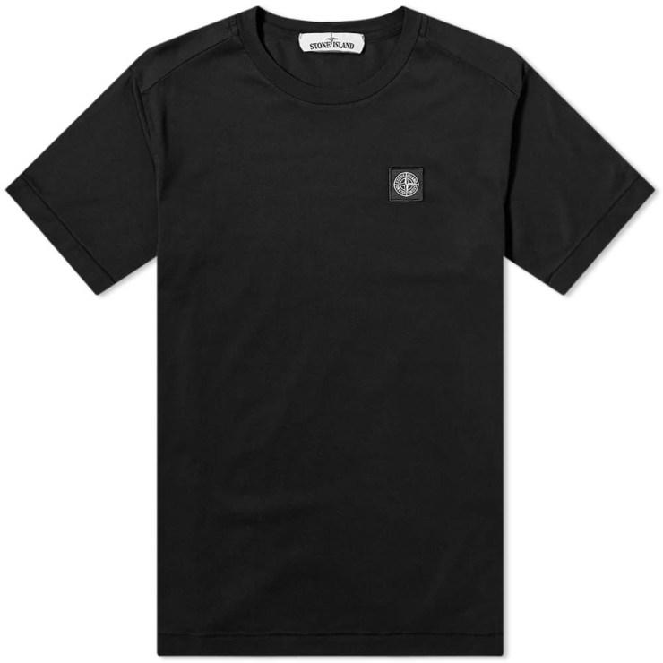 Stone Island Patch Logo T-Shirt 'Black'