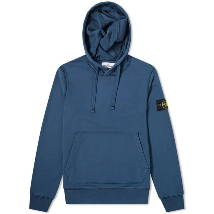 Stone Island Garment Dyed Hoody 'Blue Marine'