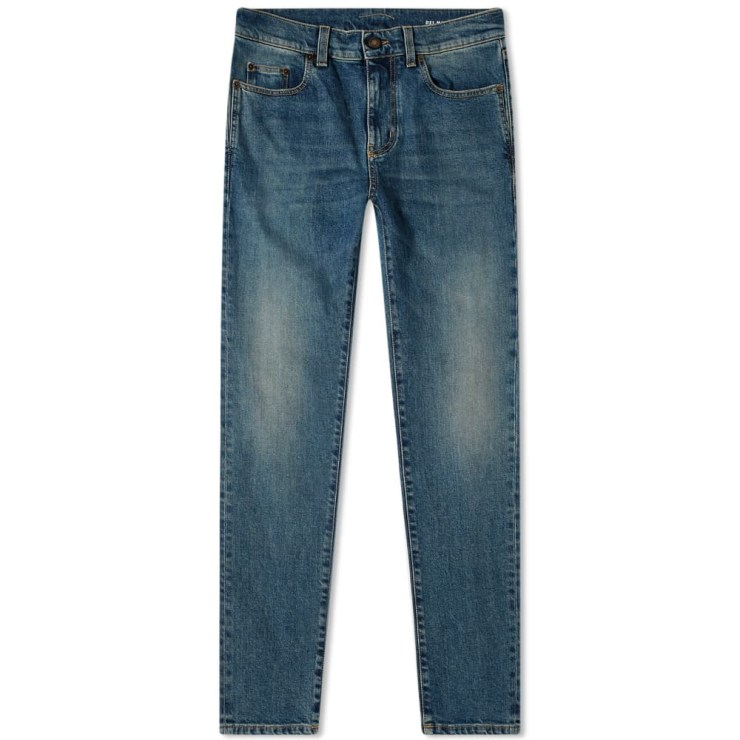Saint Laurent Skinny Jeans 'Medium Blue'