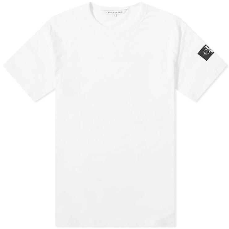 Calvin Klein Monogram Sleeve Badge T-Shirt 'White'