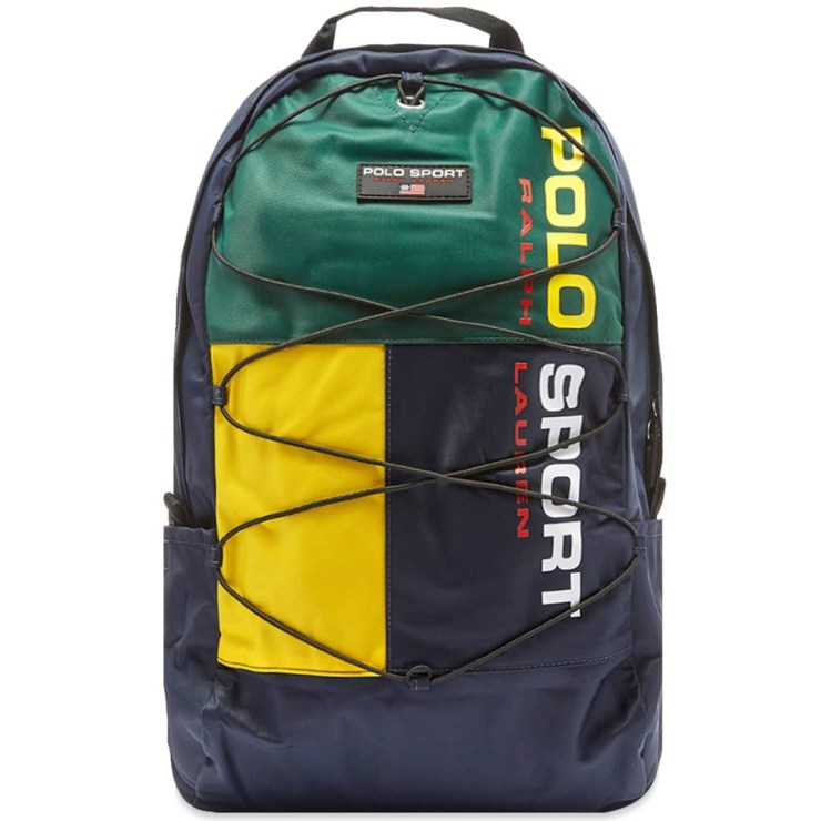 Polo Sport Backpack 'Navy, Green & Yellow'