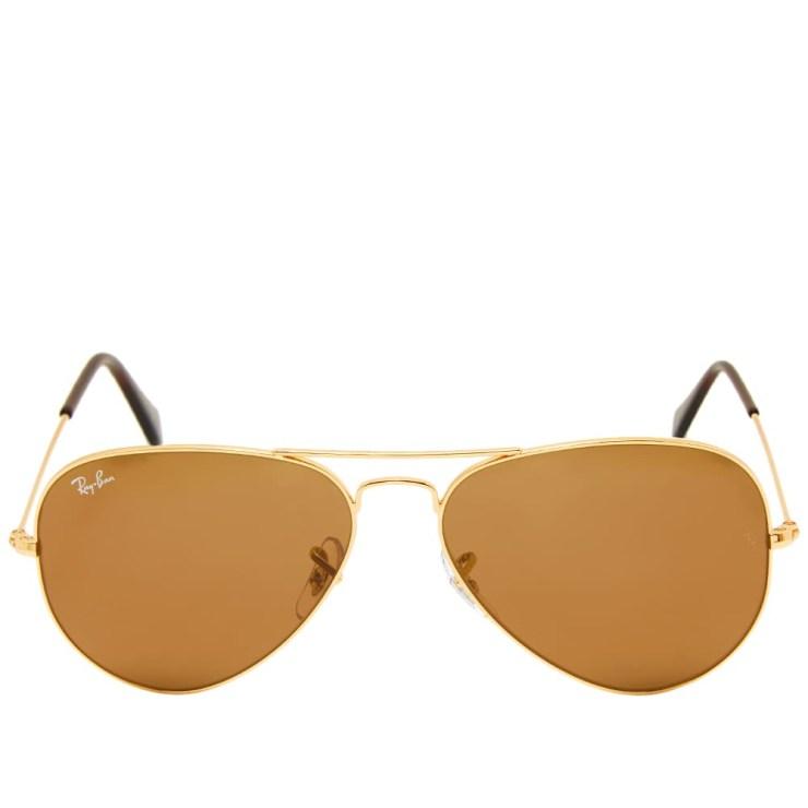 Ray-Ban Aviator Sunglasses 'Gold & Brown'