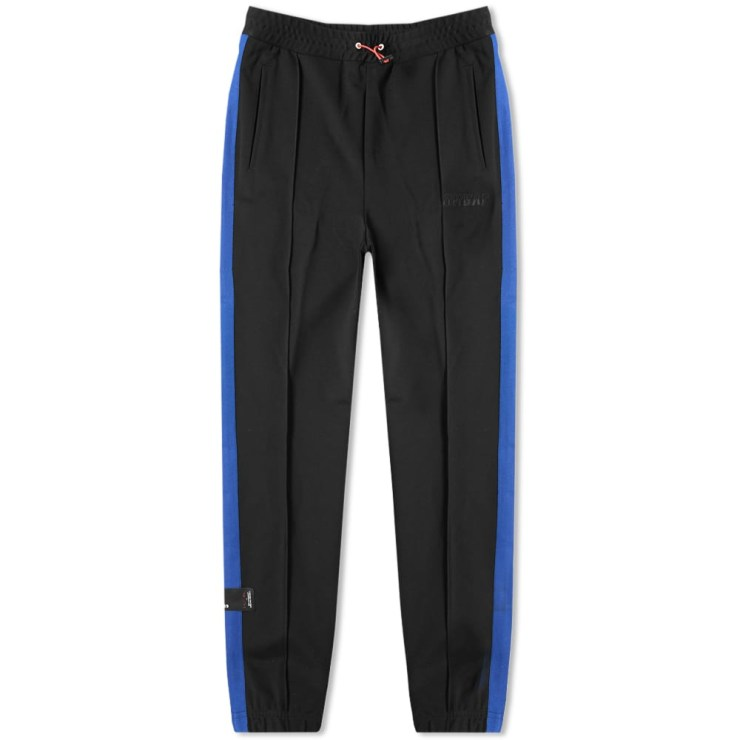 Unravel Project Taped Trackpants 'Black & Blue'