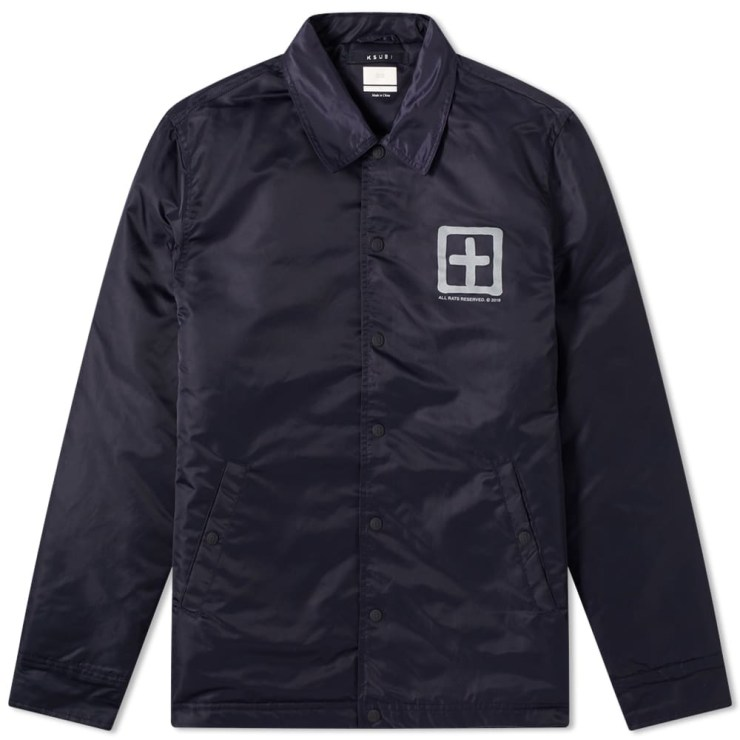 Ksubi Sign of the Times Coach Jacket 'Navy'