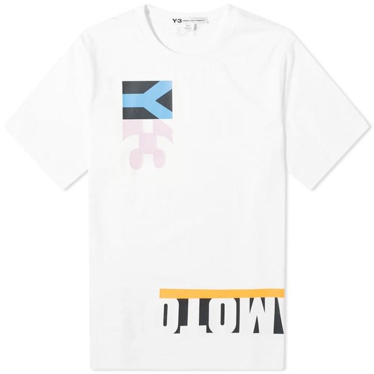 Y-3 Multi Block Graphic T-Shirt 'White'