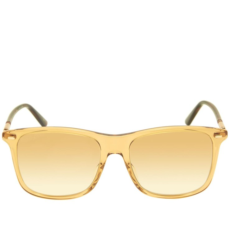 Gucci Cylindrical Web Sunglasses 'Brown & Gold'
