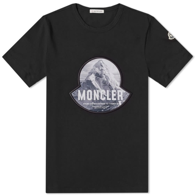 Moncler Mountain Logo T-Shirt 'Black'