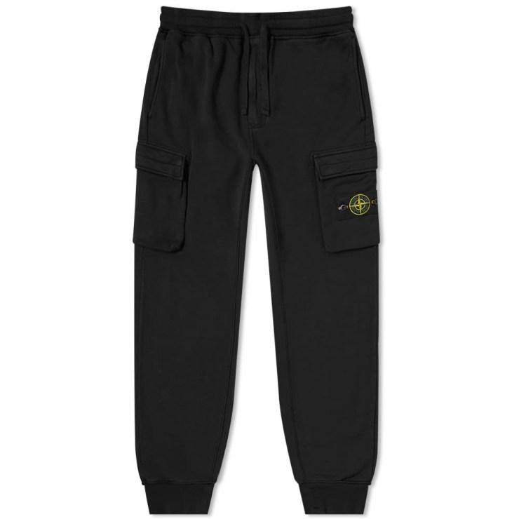 Stone Island Cargo Fleece Pants 'Black'